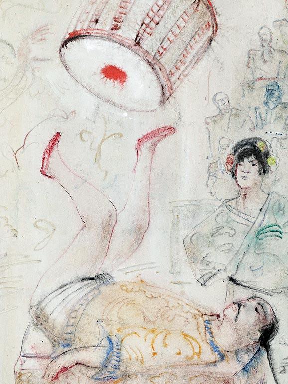 Josef Hegenbarth, Ruhender Malaienbär, um 1935, Pinselzeichnung, © Kupferstich-Kabinett, Staatliche Kunstsammlungen Dresden, VG Bild-Kunst 2018